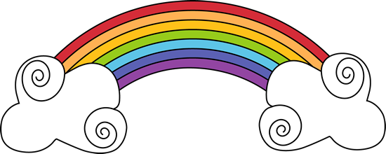 Rainbow clipart lightning. And swirly clouds weather