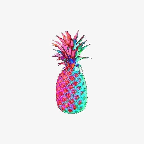 Rainbow clipart pineapple. Fruit png image and