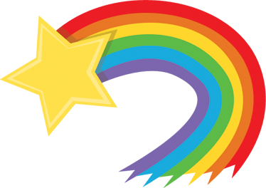 Rainbow clipart shooting star. Transparent png stickpng
