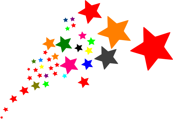 Rainbow clipart shooting star. Stars on transparent background