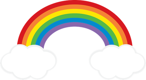 Rainbow cloud png. Clipart freebie from go