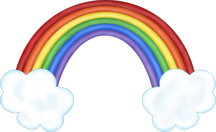 Rainbow cloud png. With clouds transparent images