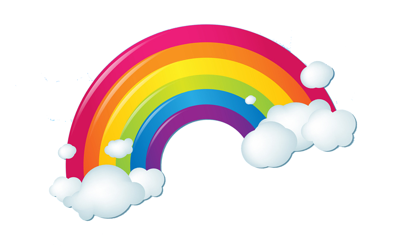 Rainbow cloud png. Iridescence clouds transprent free