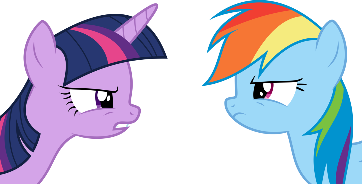 - Twilight Sparkle And Rainbow Dash Mud Transparent & PNG Clipart
