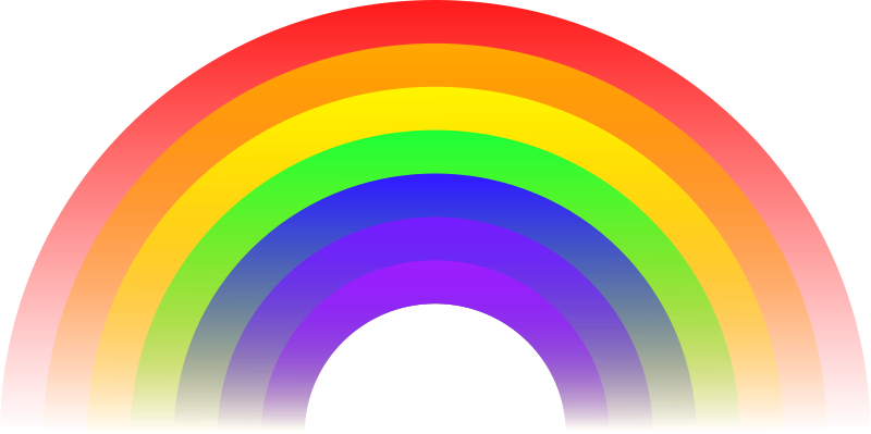Rainbow divider png. Free clipart animated gifs
