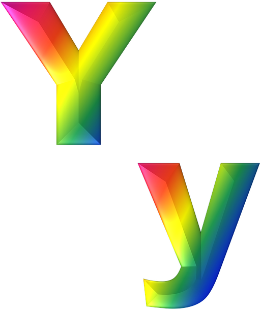 Rainbow gradient png. Download hd letter y