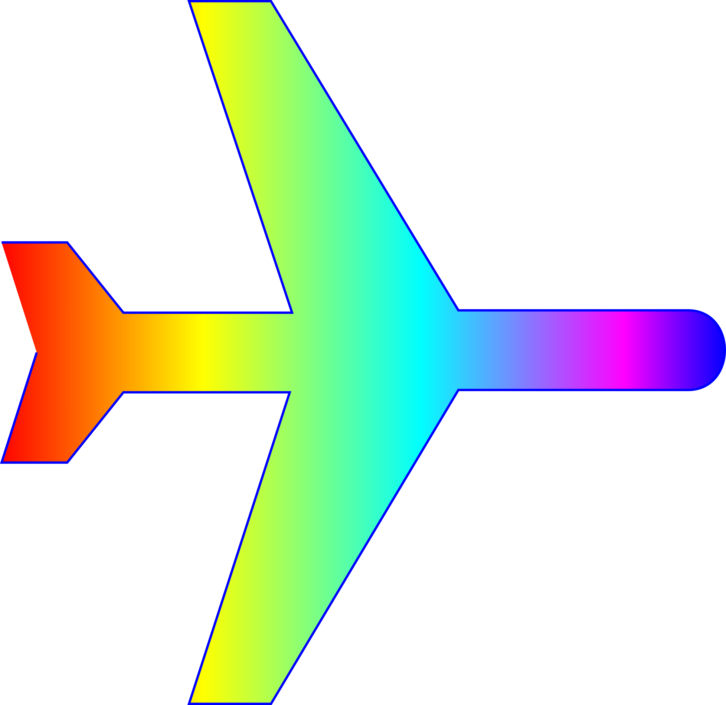 Rainbow gradient png. Clipart airplane silhouette with