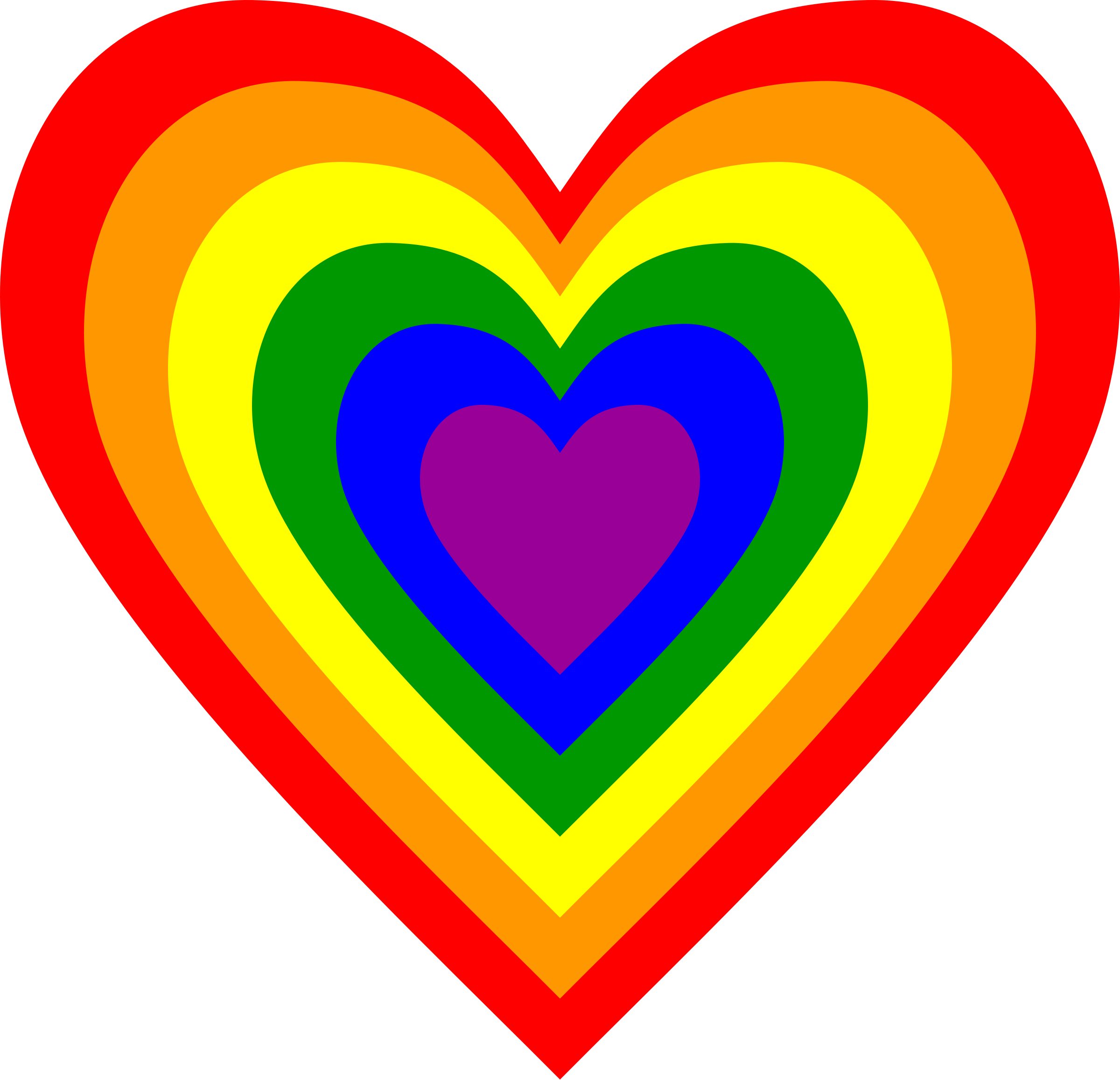 Rainbow heart png. Icons free and downloads