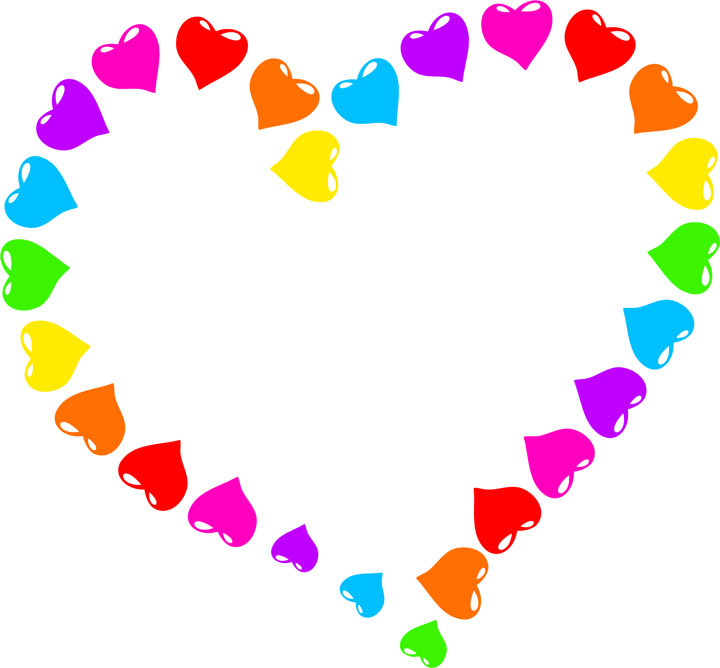 Rainbow heart png. Clipart big image