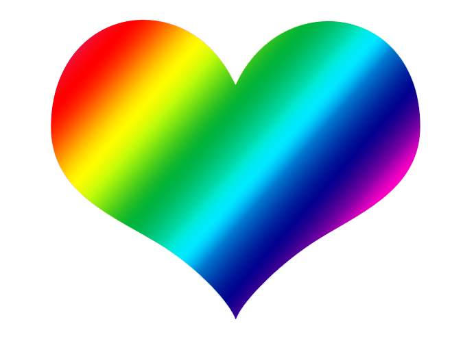 Rainbow heart png. Arc transprent free download