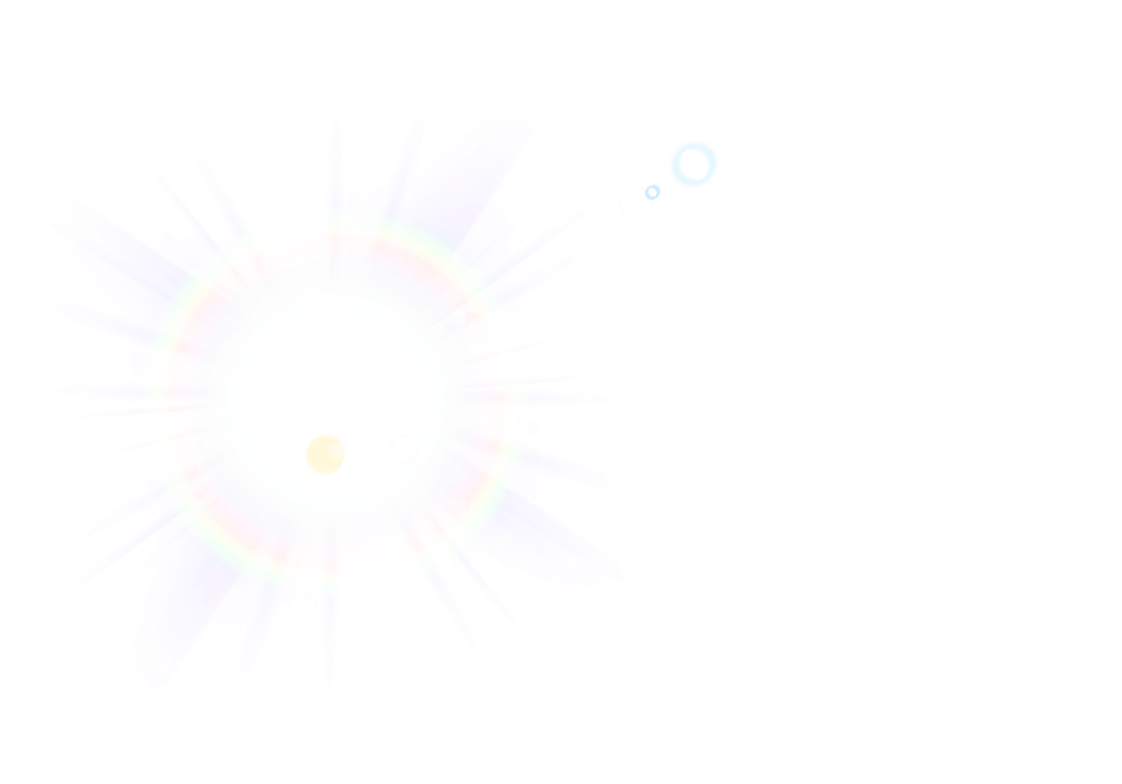 Rainbow lens flare png. Very subtle transparent stickpng