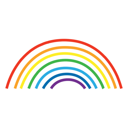 Rainbow line png. Hand drawn lines transparent