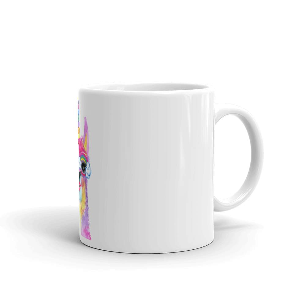 Rainbow llama png. Llamacorn mug luv co