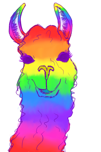 Rainbow llama png. Clipart frames illustrations hd