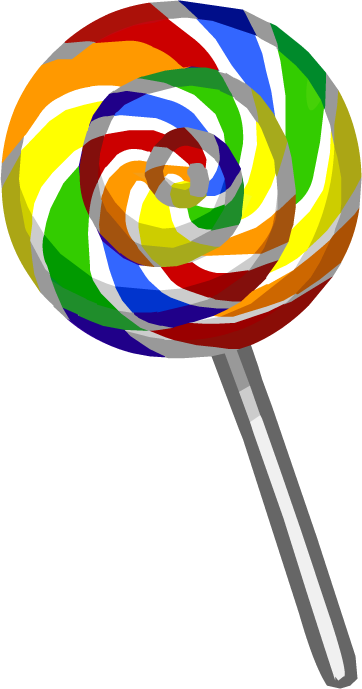 Rainbow lollipop png. Image puffle food club