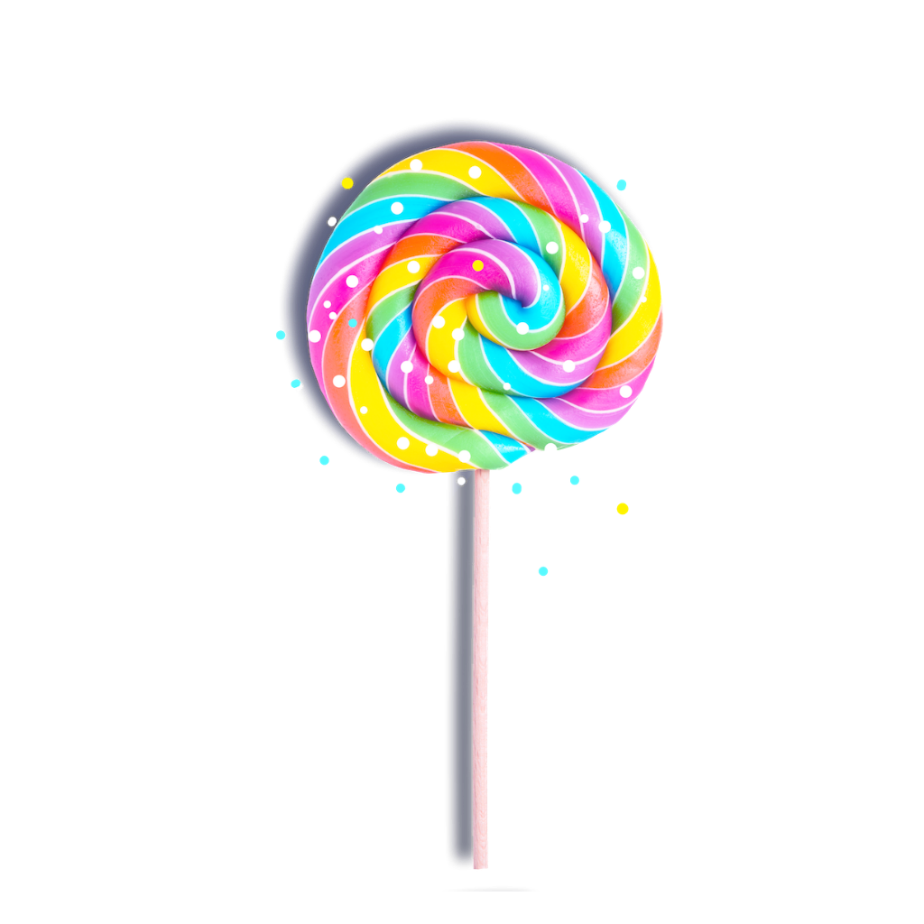 Rainbow lollipop png. Sticker by bubalosha