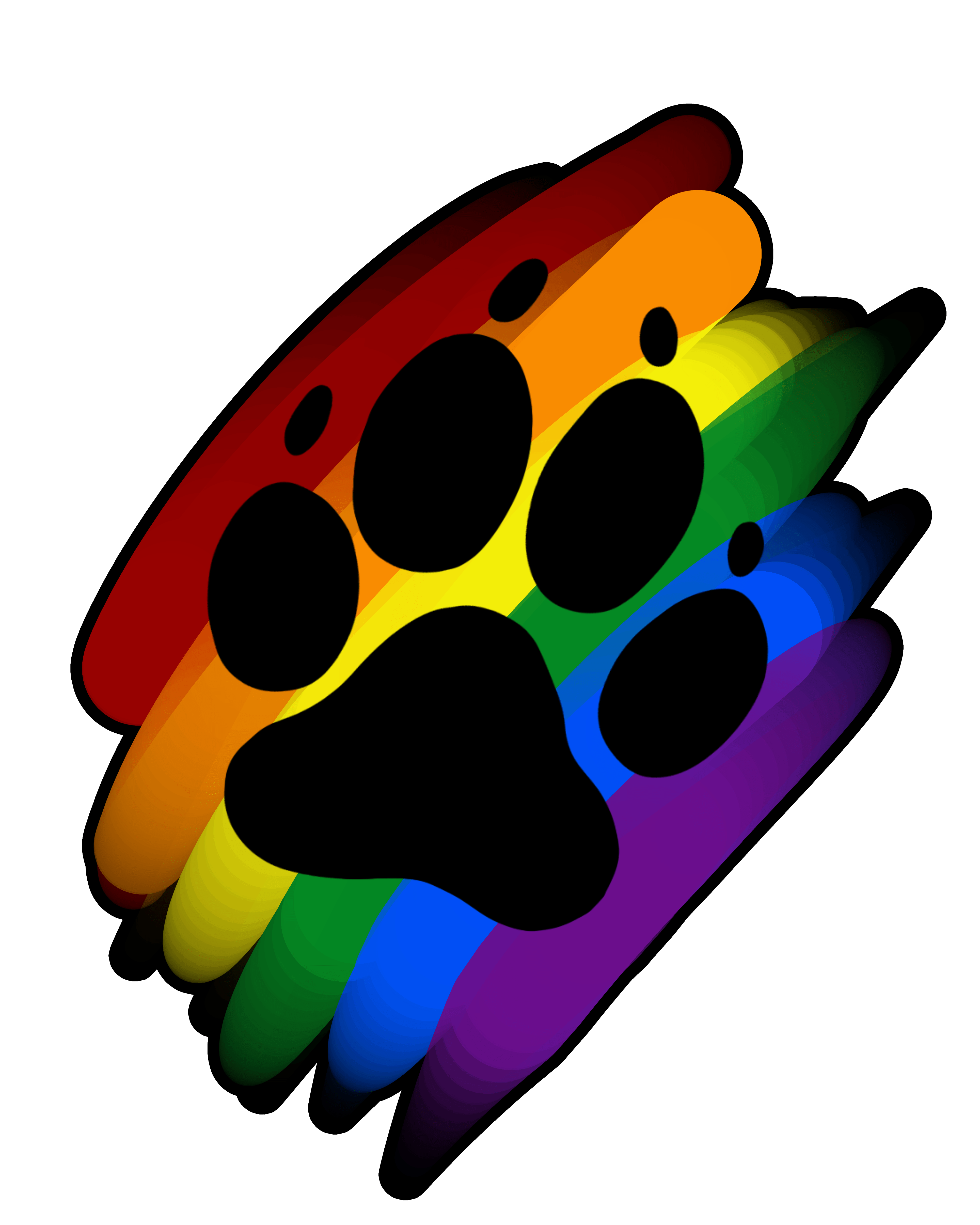Rainbow paw png. Print marker artworktee
