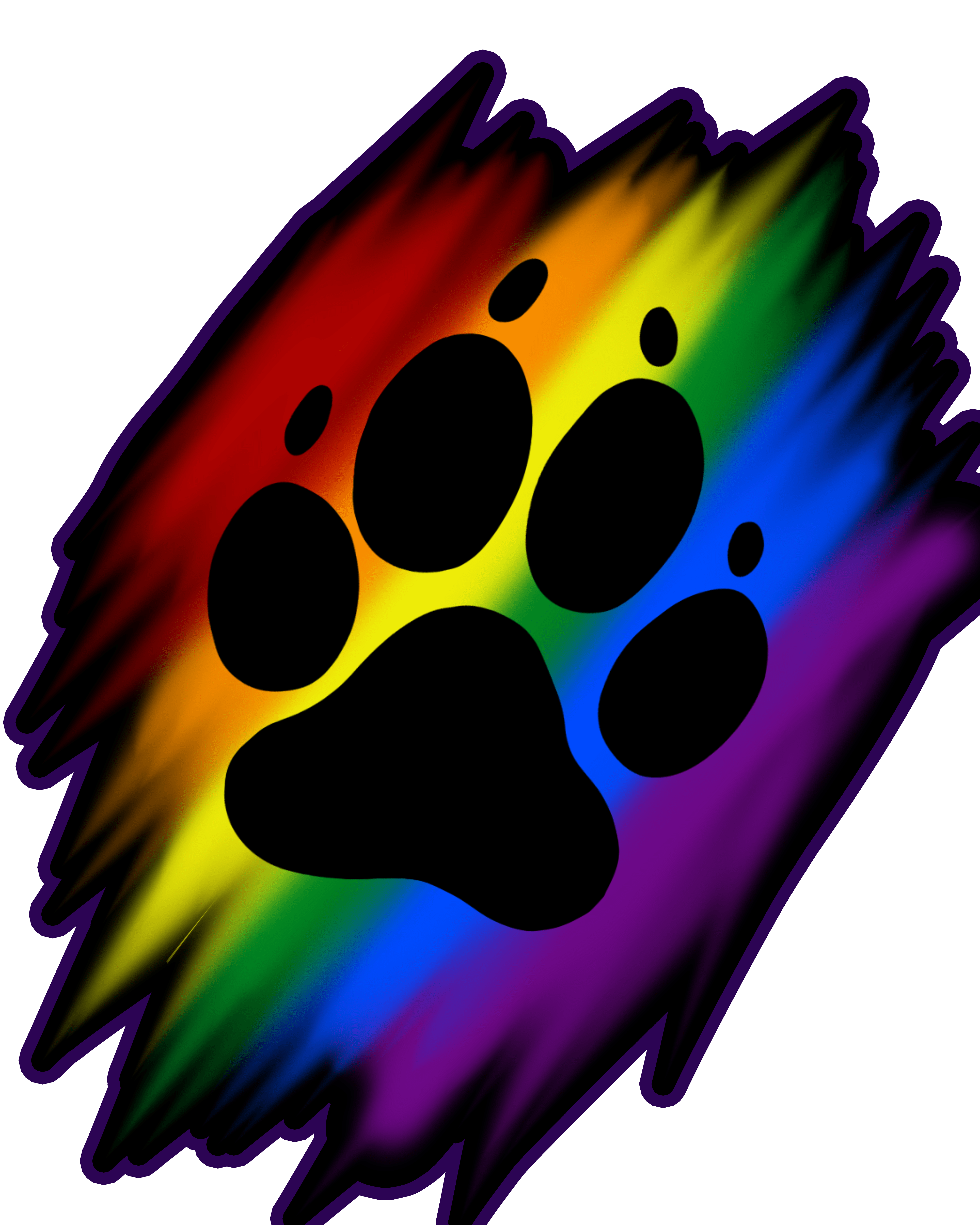 Rainbow paw png. Print artworktee