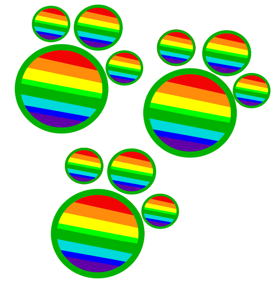 Rainbow paw png. Paws cutie mark by