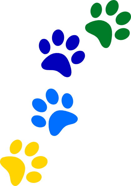 Rainbow paw png. Paws clip art at