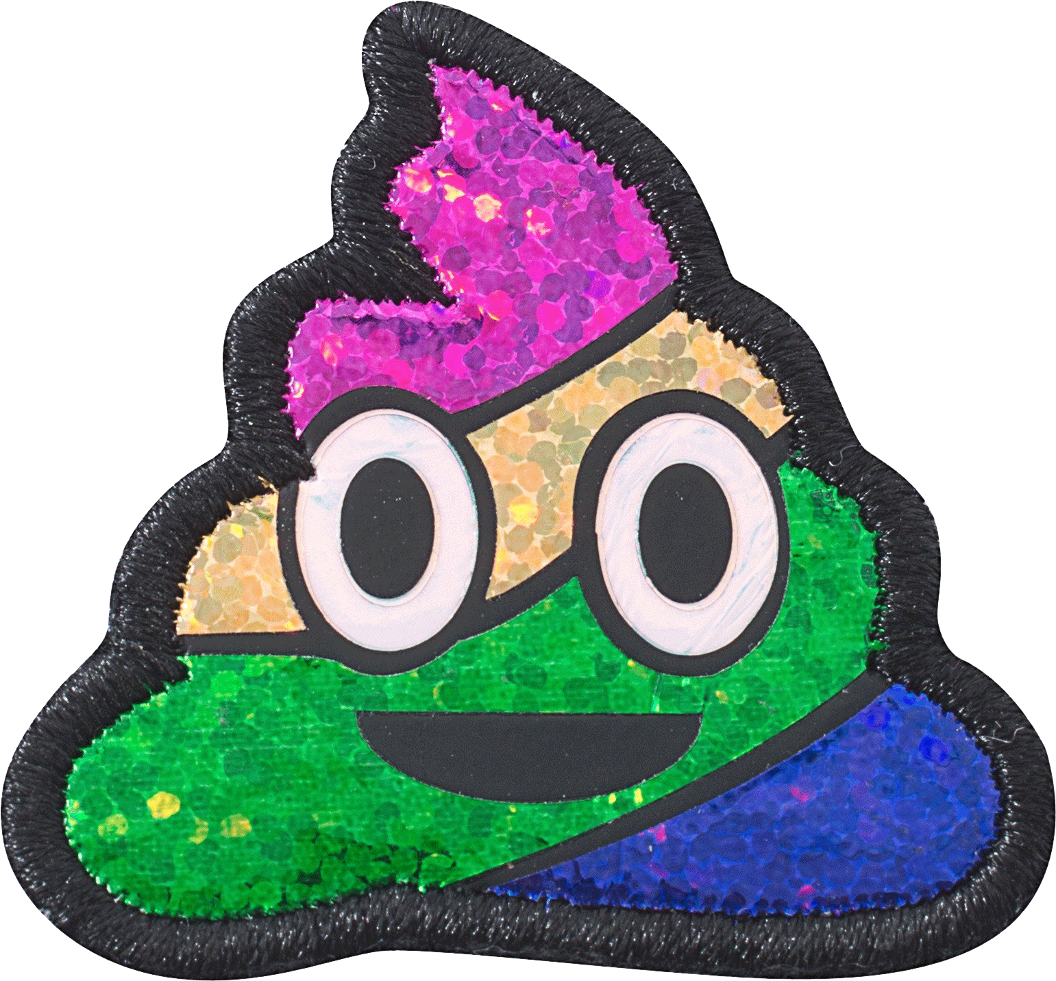 Rainbow poop emoji png. Puffy patch stoney clover