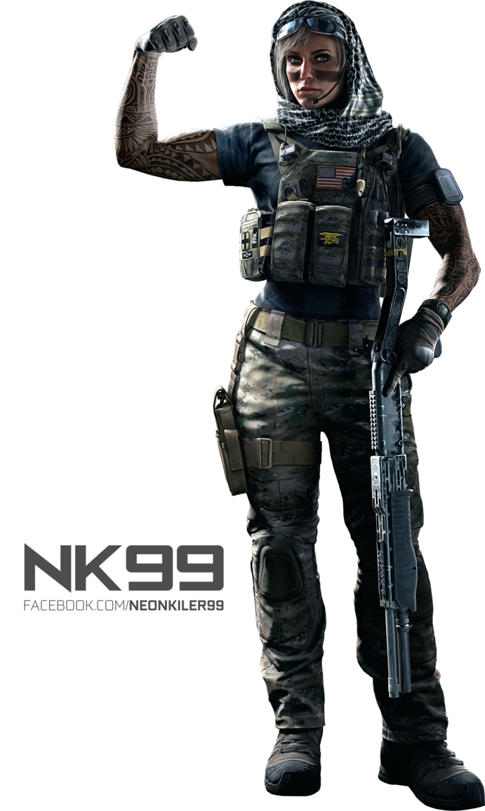 Rainbow six siege png. Valkyrie operator render by