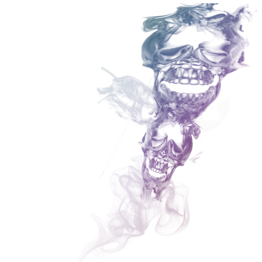 Rainbow smoke png. Double skull transparant by