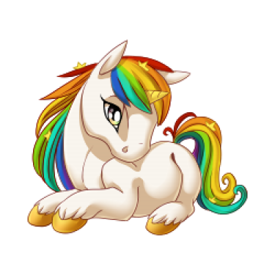 Rainbow unicorn png. Download free image baby