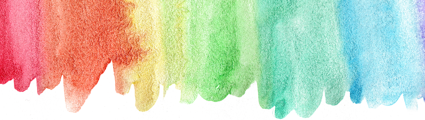 Rainbow watercolor png. Collection on behance