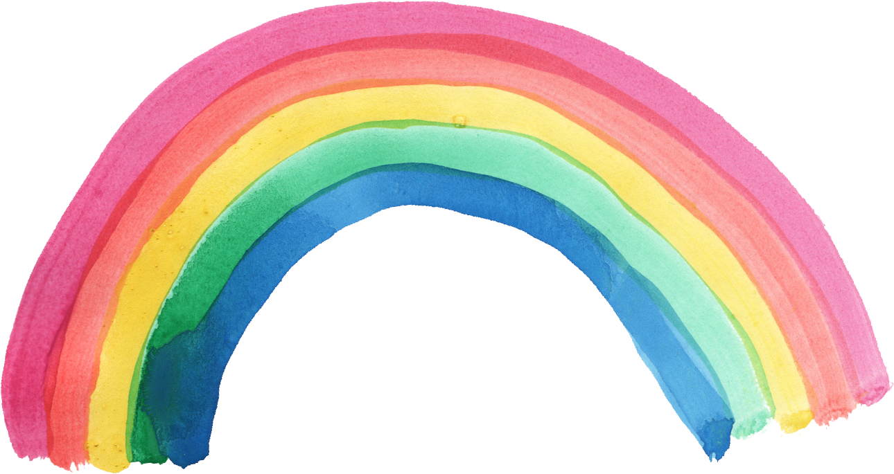 Rainbow watercolor png. Transparent onlygfx com