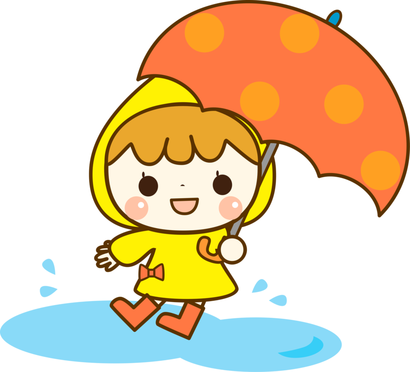 Drawing accessory kid. Raincoat umbrella clothing accessories