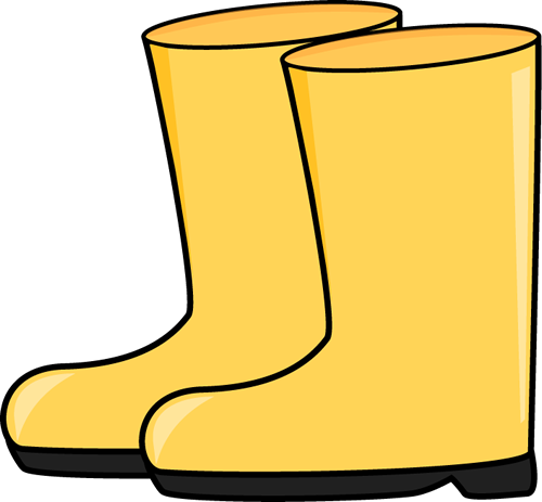 Raincoat drawing boot. Collection of free booting