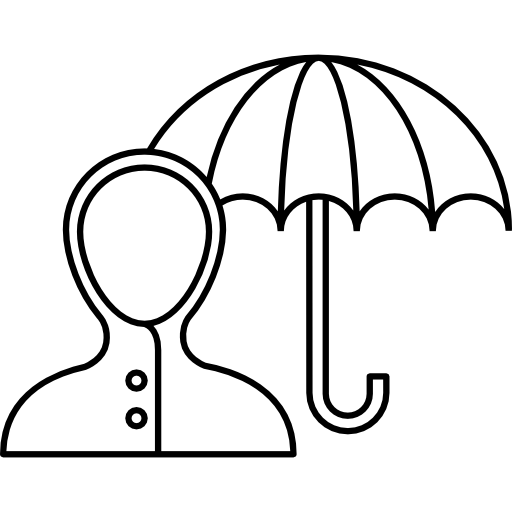 Icon. Raincoat drawing outline clip stock