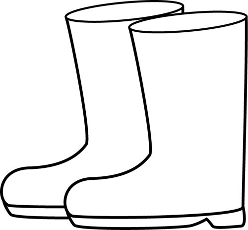 Raincoat drawing rain boot. Collection of free boots