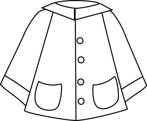 Raincoat drawing. Collection of images
