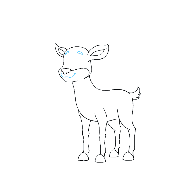 Raindeer drawing. How to draw a