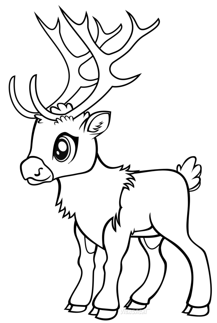 Raindeer drawing. Reindeer games line art