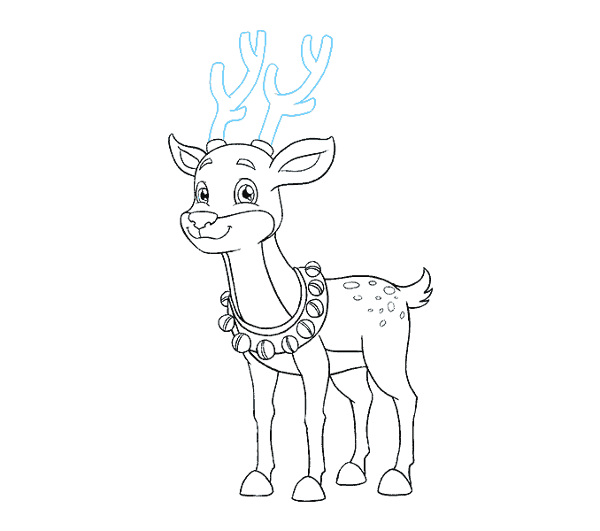 Raindeer drawing easy. How to draw a