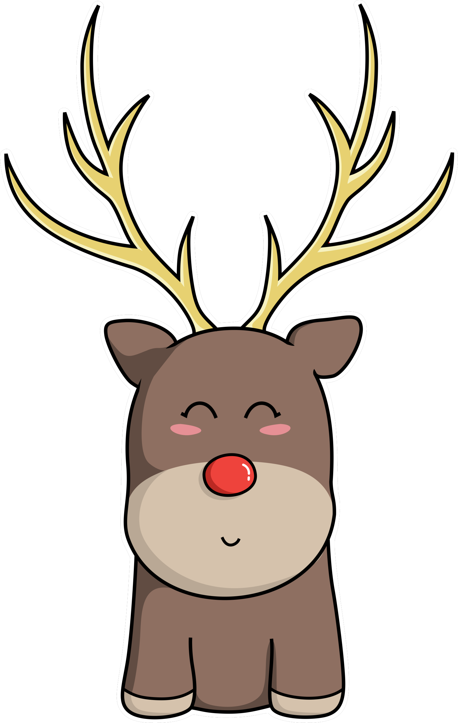 Raindeer drawing kawaii. Christmas www imagenesmi com