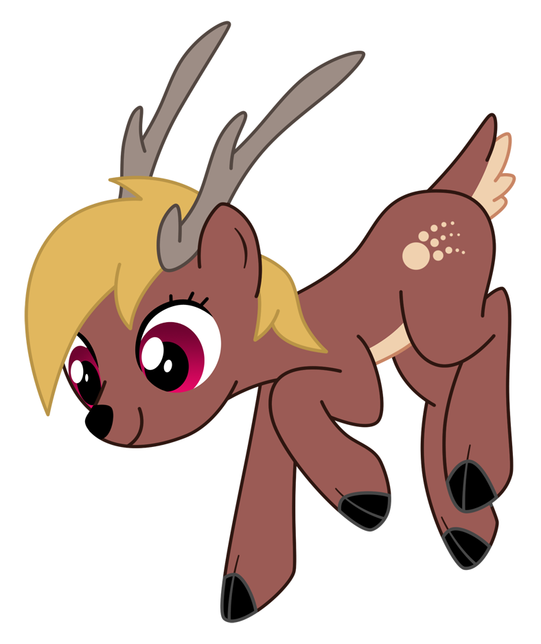 Raindeer drawing kawaii. Mlp reindeer comet by