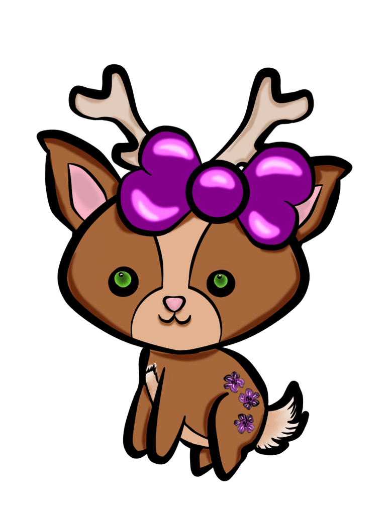 Raindeer drawing kawaii. Best free reindeer