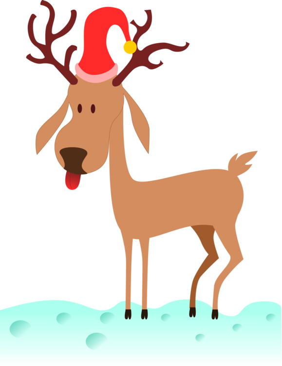 Rudolph vector holiday. Reindeer santa claus clip