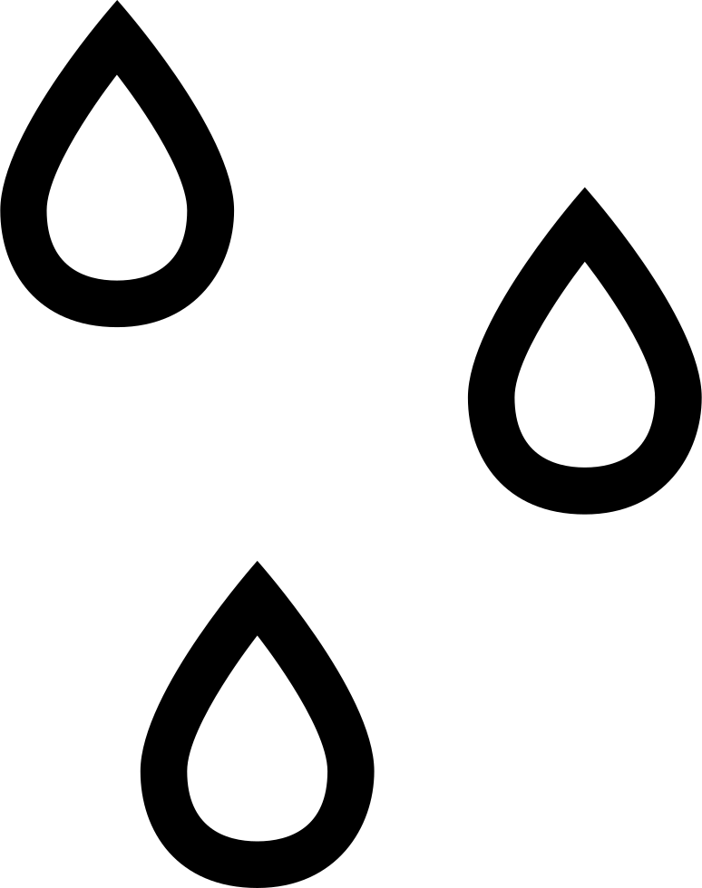 Raindrop outline png. Raindrops outlines weather symbol