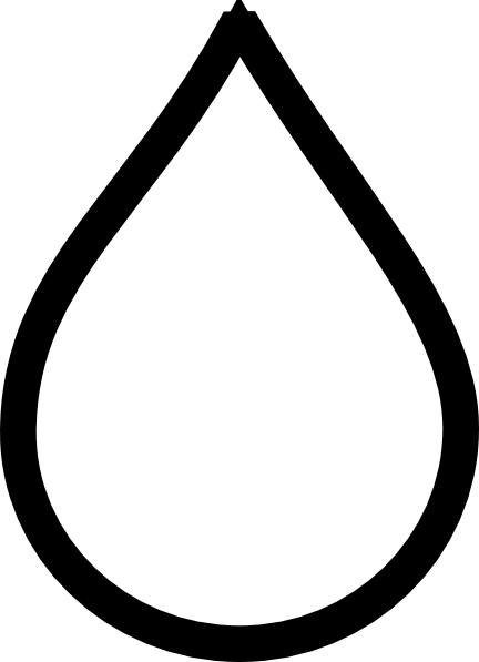 Transparent raindrops coloring page. Raindrop clipart black and