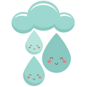 Transparent raindrops svg. Happy scrapbook cut file