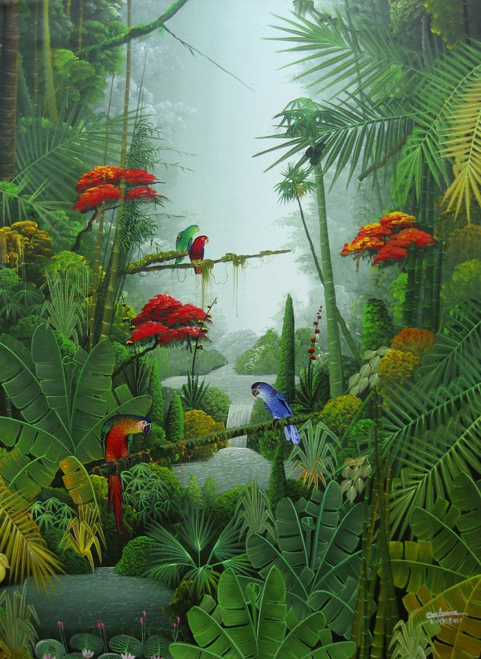 Rainforest clipart forest land. Art by mahinui on