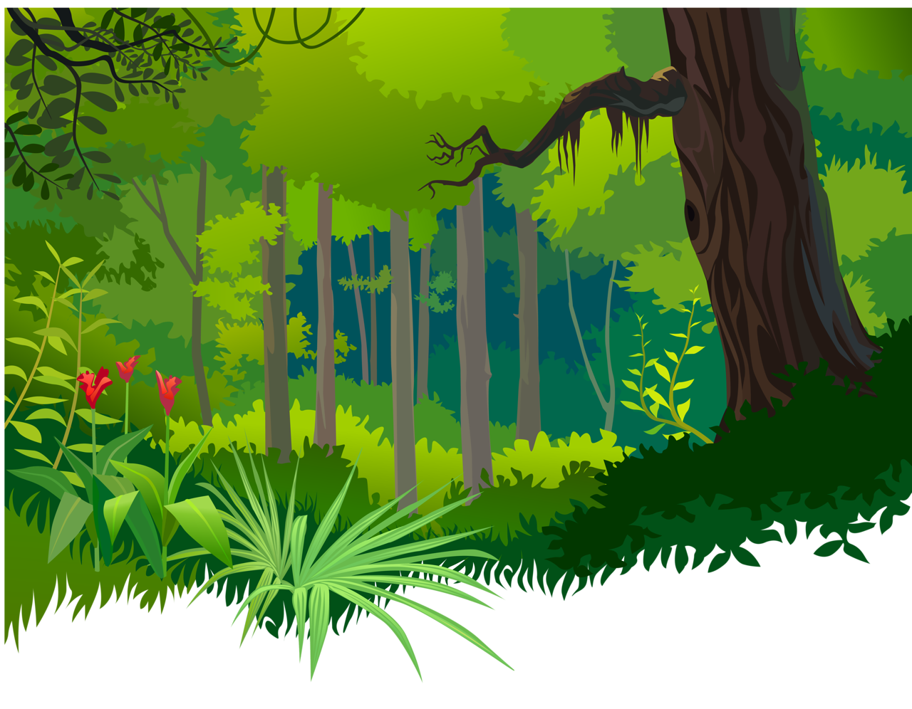cliparts for free. Rainforest clipart scenery jpg library library