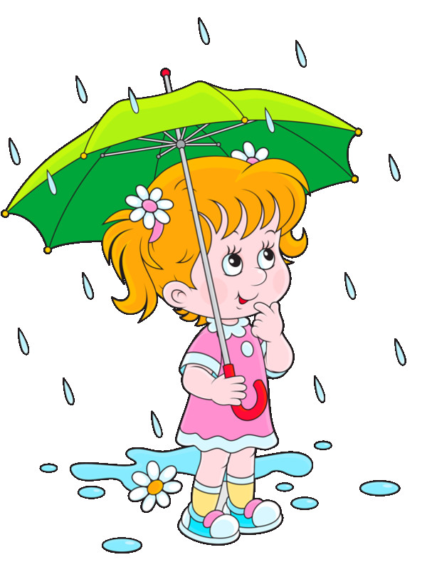 Raining clipart. Beautiful idea rain personnages