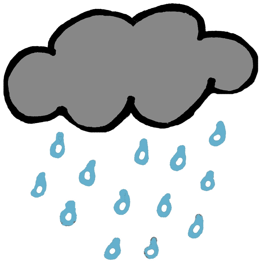 Raining clipart. Unique collection digital coloring