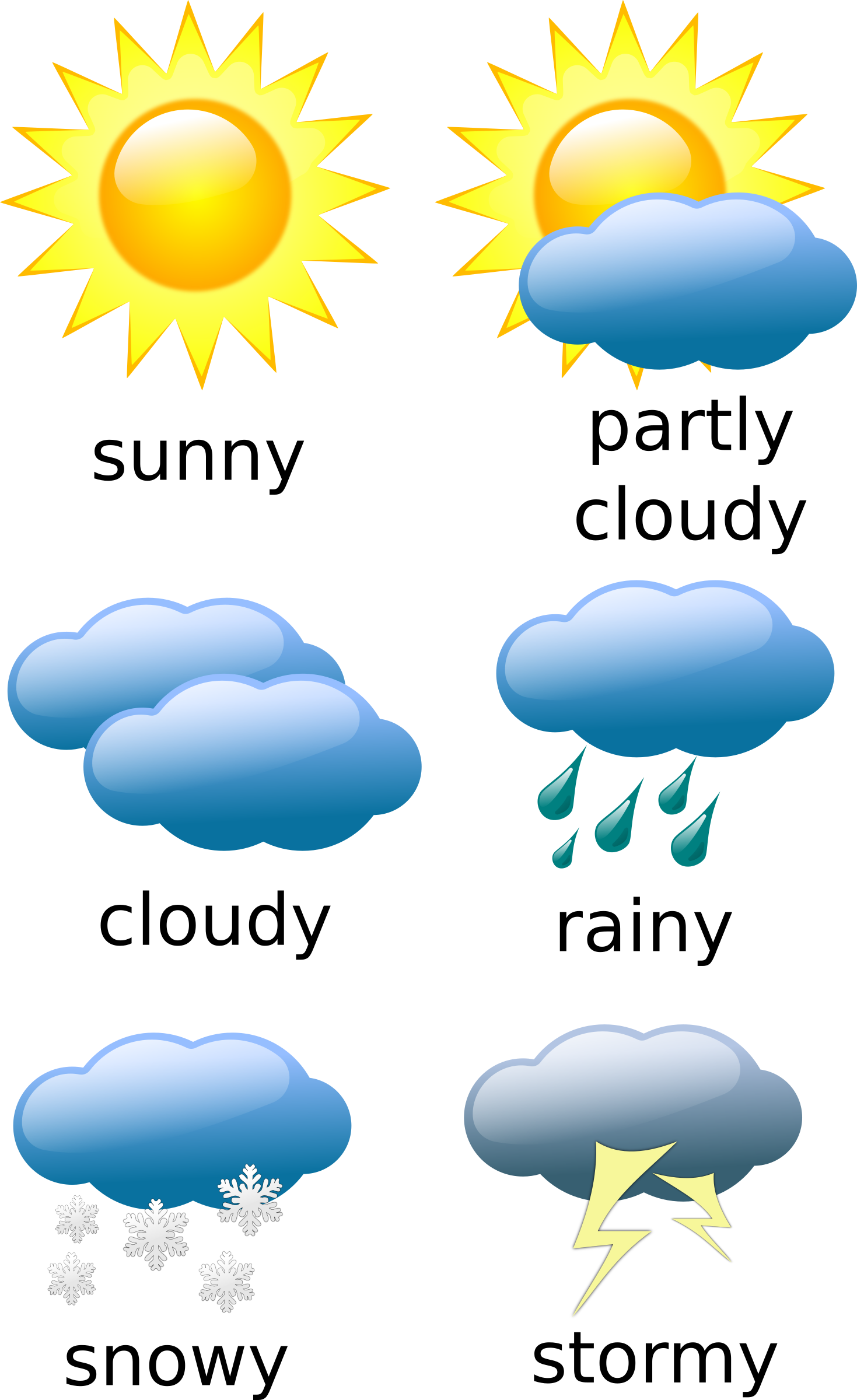weather clipart pdf